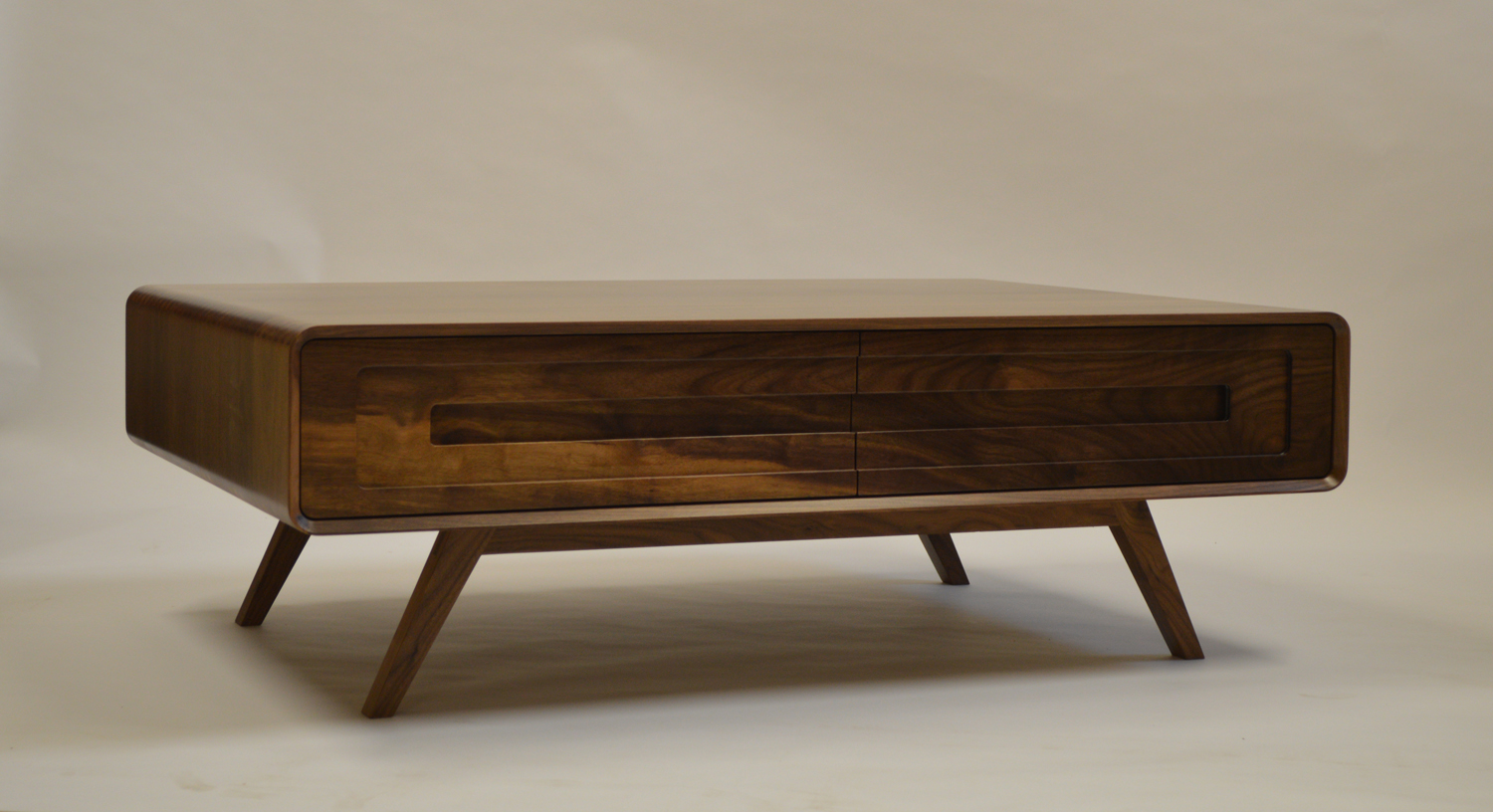 Lunar coffee table joachim king furniture it features two drawers on one side and an open shelf on the other to create useful storage the leg design is taken from the cathcart unit style geotapseo Gallery